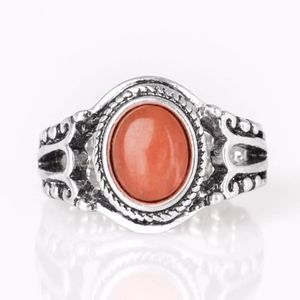Free with Bundle Peacefully Peaceful Orange Ring
